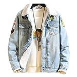 Men's Fleece Pockets Thicken Button-up Cowboy Jacket Coat