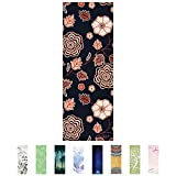 Cheap Hello Laura – Premium Quality Performance Yoga Mat European Suede Surface Texture, PVC Free, Anti Slippery, Eco Friendly, For Bikram, Hot Yoga, Pilates and Other Exercise | Flower Blossom Theme