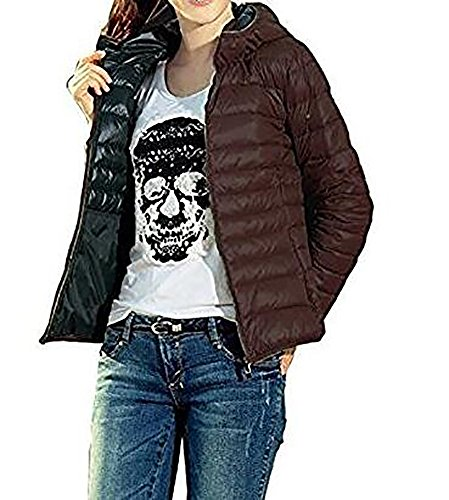 Down Flyhigh Jacket Women's Hooded Brown Puffer Winter 4qwx0UwtO