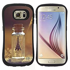 "Pulsar iFace Series Tpu silicona Carcasa Funda Case para Samsung Galaxy S6 , París Torre Verano triste Pretty"""