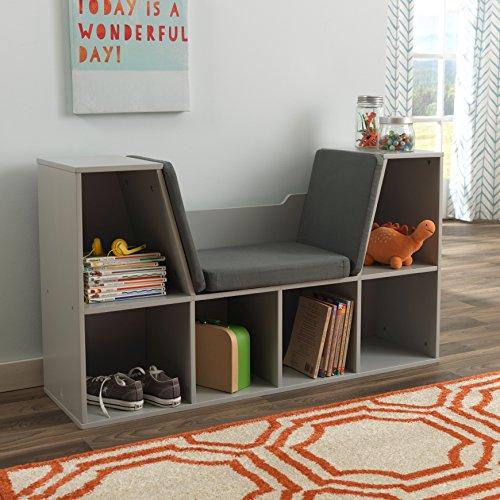 Amazon.com: KidKraft Bookcase With Reading Nook Furniture, Gray: Toys U0026  Games