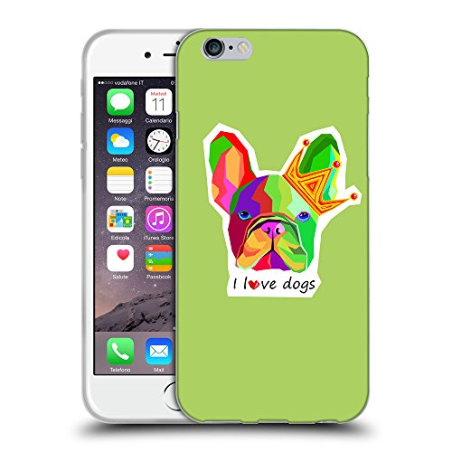 GoGoMobile Coque de Protection TPU Silicone Case pour // Q05090628 Mignon bouledogue Inchworm // Apple iPhone 7