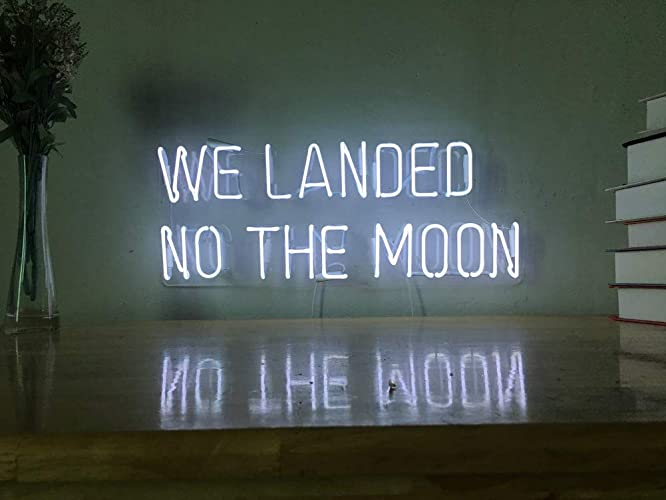To The Moon And Back Real Glass Neon Sign For Bedroom Garage Bar Man Cave Room Home Decor Handmade Artwork Visual Art Dimmable Wall Lighting Includes Dimmer