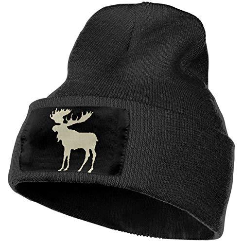 Plaid Moose Buffalo Unisex Slouch Beanie Hats - Thick, Warm & Stylish Winter Hats Black