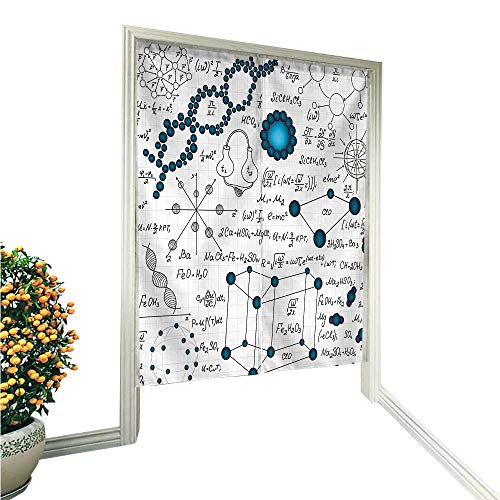 QianHe Noren Doorway CurtainPhysics DNA Molecule Formulas Atomic Chemical Analyses Display Baby and Petrol Blue Hand or Machine wash in Cold Water 33.5