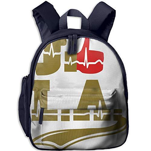 School Backpack For Girls Boys, Kids Cute J'aime Los Angeles Cartoon Backpacks Book Bag
