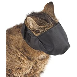 Guardian Gear Nylon Cat Muzzles — Versatile Muzzles for Cats - Medium, Black