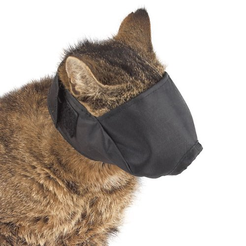 Guardian Gear  Nylon Cat Muzzles — Durable and Versatile Muzzles for Cats - Large, Black