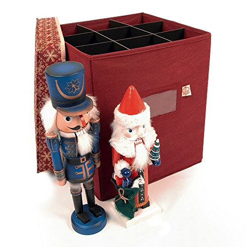 (Holiday Collectibles & Nutcracker Storage Box with Dividers (Classic Snowflake))