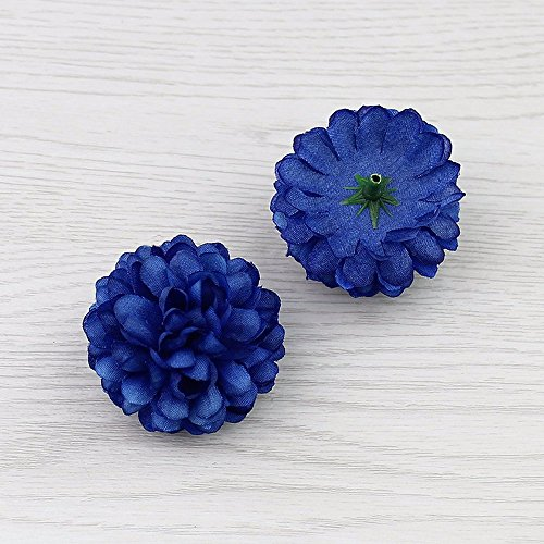 FLOWER Artificial Silk Carnation Artificial pompom Head mini Hydrangea Home wedding Decoration DIY Wreaths 30pcs 5 cm (royal (Mini Carnations Bouquets)