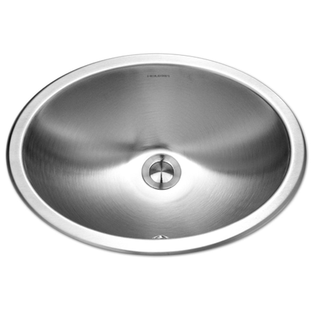 Houzer CHTO-1800-1 Opus Series Topmount Stainless Steel Oval Bowl Lavatory Sink with Overflow by HOUZER