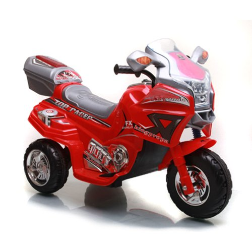 Ride on Toy, 3 Wheel Motorcycle Trike for Kids, Battery Powered Ride On Toy by Lil' Rider  – Ride on Toys for Boys and Girls, 2 - 5 Year Old - Red - Riding Motorcycle Trike