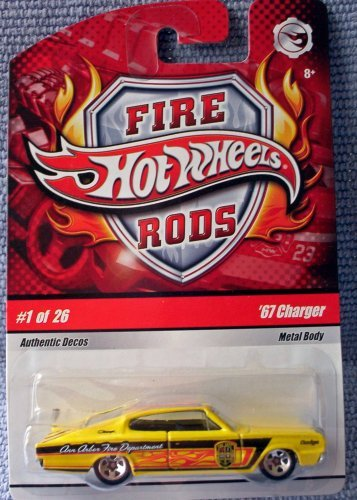 Hot Wheels 2009 Fire Rods Series #1/26 Toys 'R Us '67 CHARGER 1:64 Scale Collectible Car
