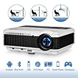 3900 Lumen LED LCD Bluetooth Projector Wireless HD 1080P Support HDMI Airplay APPS Netflix Youtube TV- Android Smart Home Theater Projector Outdoor Entertainment Karaoke