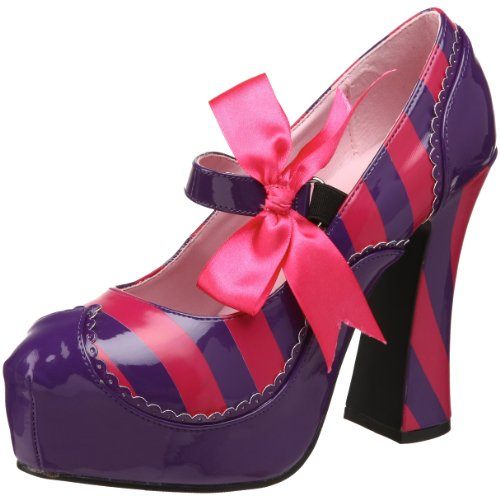 Funtasma by Pleaser Women's Kitty-32/PURHP Pump,Purple/Hot Pink Patent,7 M US (Cat Woman Costume Ideas)