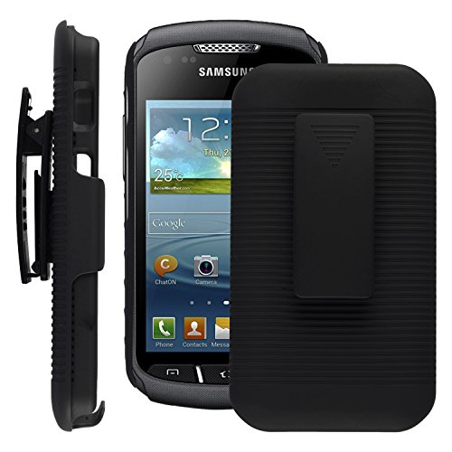 new product c3602 b82bc SOJITEK Samsung Galaxy Xcover 3 Black Holster Case 2 in 1 Hybrid ...