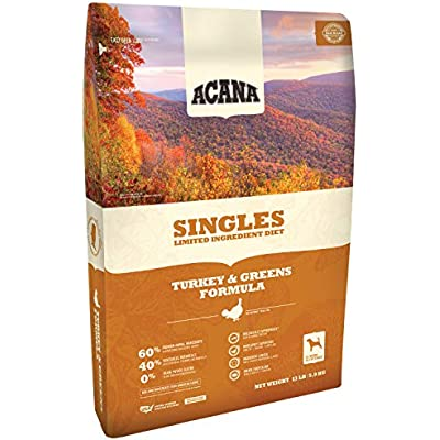 ACANA Singles Turkey and Greens Dry Dog Food 13 Pounds