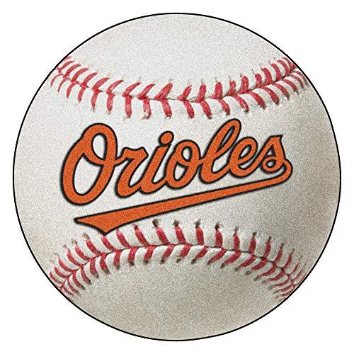 Baltimore Orioles Baseball Rug Mat - FANMATS MLB Baltimore Orioles Nylon Face Baseball Rug