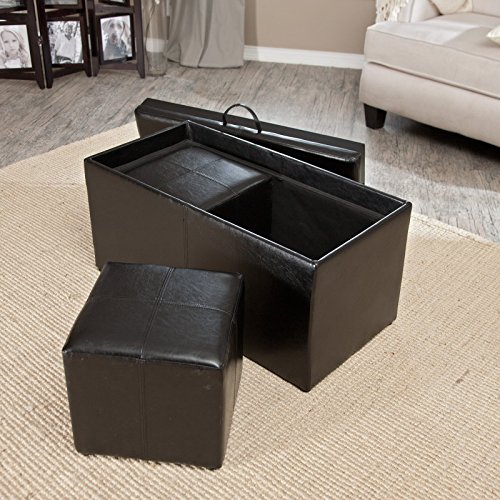 Hartley Coffee Table Storage Ottoman With Tray Side Ottomans Import It All