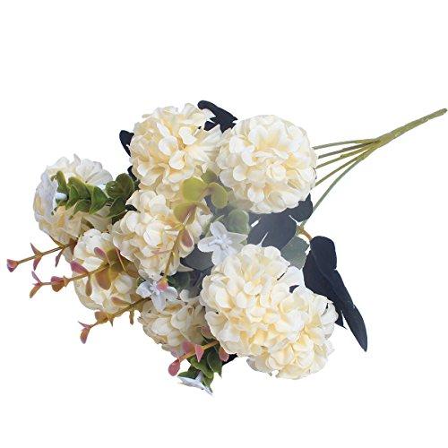 1 Bunch European Artificial Flower Fake 10 Heads Hydrangea Bouquet Wedding Arrangement Christmas Home Decoration