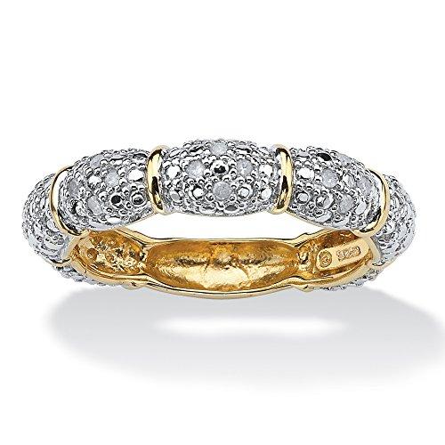 Two Tone Diamond Promise Ring - 5