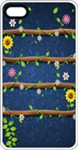 Flowering Vines On Wood White Rubber Case for Apple iPhone 4 or iPhone 4s