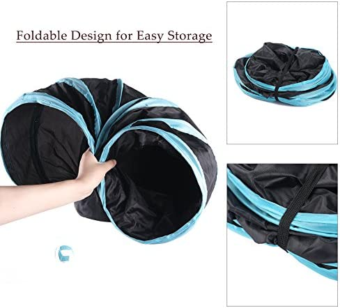 CO-Z Collapsible Cat Tunnel Tube Kitty Tunnel Bored Cat Pet Toys Peek Hole Toy Ball Cat, Puppy, Kitty, Kitten, Rabbit 6