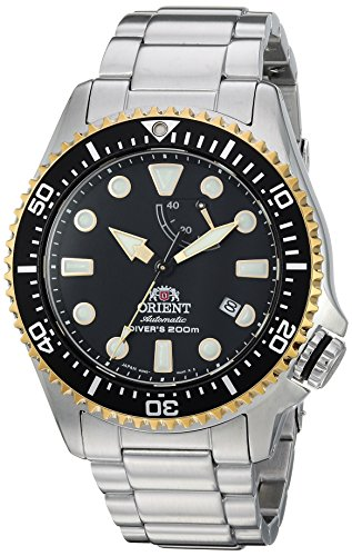 Orient Men's 'Triton' Japanese Automatic Stainless Steel Diving Watch, Color:Silver-Toned (Model: RA-EL0003B00A) ()