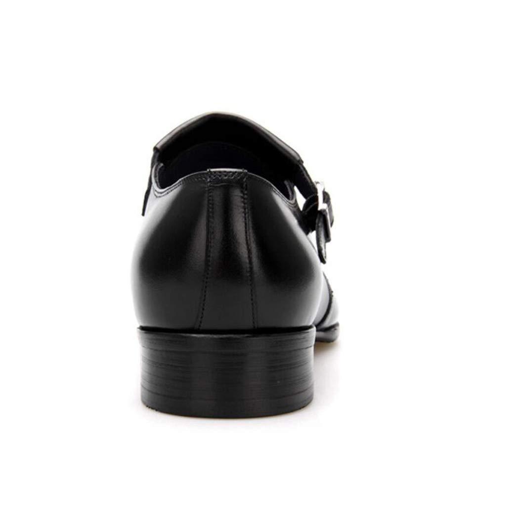 Zxcvb Geschäft Dress Leder Derby Schuhe Weiß-Collar Lederschuhe britischen First Layer Leder wies Pediküre Schnalle Herren Lederschuhe Weiß-Collar dcf5b2