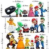 18 Piece Super Mario Bros Super Mary Princess, Turtle, Mushroom, Orangutan , Super Mary Action Figures, 2