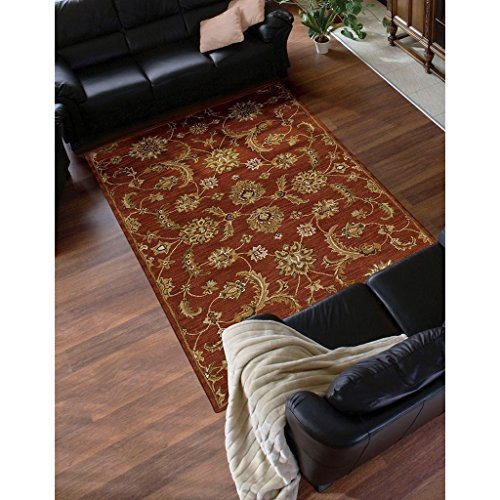 (Nourison India House (IH83) Brick Rectangle Area Rug, 8-Feet by 10-Feet 6-Inches (8' x 10'6