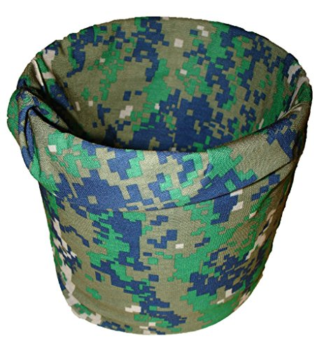 Tactical Marpat Green Camo Camoflauge Multi Function ACU Digital Microfiber Headband Face Mask Headwrap Headwrap Green Camo