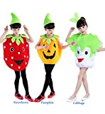 Halloween Costumes Children Pumpkin Style Clothes Christmas Clothes (Child Height 130-150cm, Pumpkin)