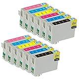 12 Pack - Remanufactured Ink Cartridges for Epson #79 T079 T079120 T079220 T079320 T079420 T079520 T079620 Inkjet Cartridge Compatible With Epson Artisan 1430 Stylus Photo 1400 (2 Black, 2 Cyan, 2 Magenta, 2 Yellow, 2 Light Cyan, 2 Light Magenta)