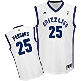 Youth Chandler Parsons Memphis Grizzlies Replica Adidas White Home Jersey
