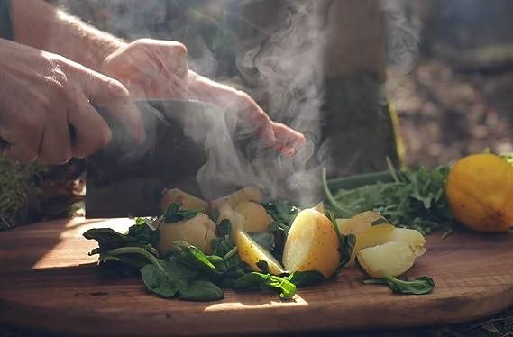 Amazon.com: Cuchillo de cocina Cleaver hecho a mano completo ...