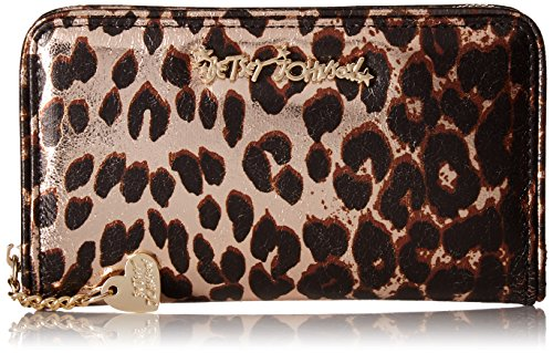 Betsey Johnson Women's Wallet, Leopard, One (Animal Print Wallet)