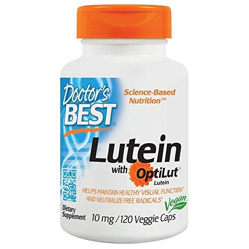 Doctors Best Lutein with Optilut 10mg 120 Veggie Caps. (Doctors Best Best Lutein 120 Veggie Caps)