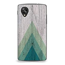 Case for Nexus 5, CasesByLorraine Wood Print Geometric Triangle Pattern Case Plastic Hard Cover for LG Google Nexus 5 (S01)
