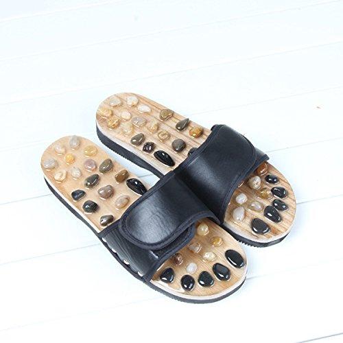 De Black Direct Zapatillas Black Nuevas Factory Home 39 Zapatos Masaje Pebbles De Jade Masaje Summer 37 Slippers BFYqZw