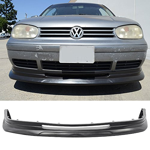 (Front Bumper Lip Fits 1999-2004 Volkswagen Golf Mkiv P1 Style Black PU Spoiler Splitter Valance Fascia Cover Guard Protection Conversion by IKON MOTORSPORTS   2000 2001 2002 2003 )