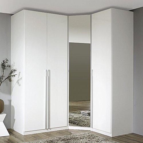 Eckkleiderschrank »MODENO221« Hochglanz weiß, Alpinweiß Höhe 223 cm