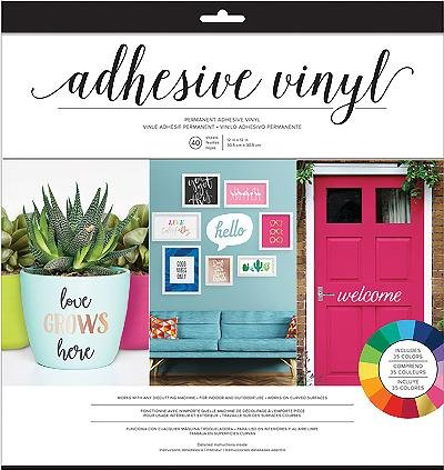- American Crafts 348091 Adhsv Vinyl 12x12 Pk None
