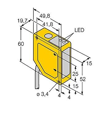 3063865 - q50bi, Opto sensor triangulation Sensor con salida análoga: Amazon.es: Industria, empresas y ciencia