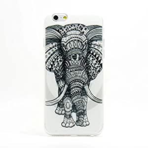 Moonmini Fashion Animal Elephant Pattern Snap-On Phone Back Soft Case Cover Skin Protector for iPhone 6 4.7""