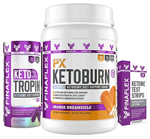 Keto Starter Kit, Everything You Need to Get Into Ketosis, Induce Ketosis in as Few as Three Days, Monitor Progress, Maintain Ketosis, Burn Fat, Free Keto Guide, Easy to Use, -