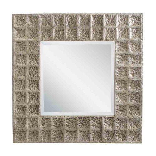 Kichler  78192AP Missoula 28.25-Inch Mirror, Antique Pewter Finished Hammered Metal Frame