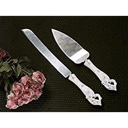 Calla Lily Cake And Knife Set C405 Quantity of 1
