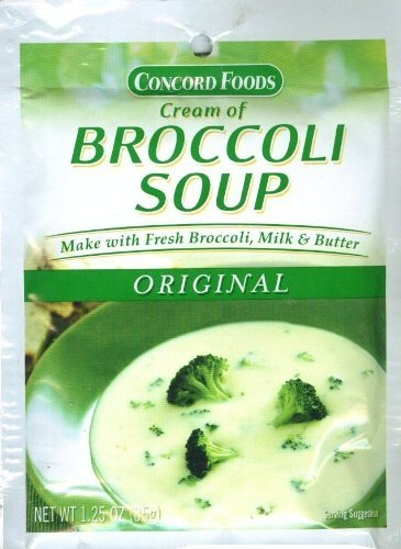 Amazon Com Concord Foods Cream Of Broccoli Soup Mix 1 25oz Packet Pack Of 6 Grocery Gourmet Food