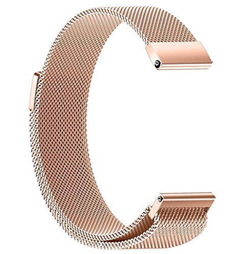 Morrivoe Comfortable Replacement Watch Band Straps Milanese Magnetic Loop Stainless Bands Adjustable Bands 22/20/18/16/14MM WristBand